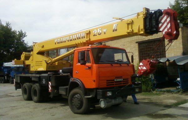 Автокран 25 тонн стрела 21.7 метров