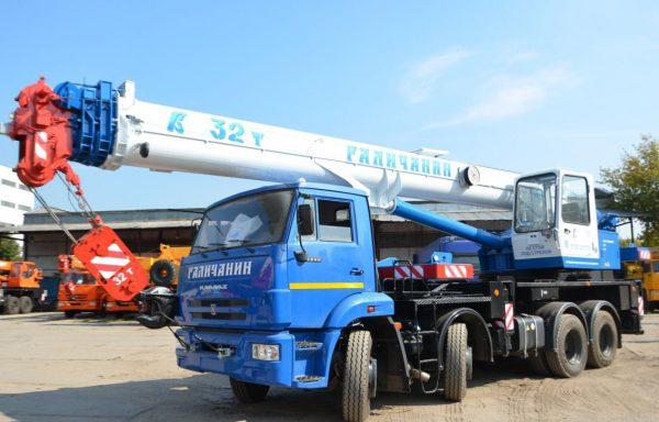 Автокран 32 тонны стрела 30 метров «Галичанин»