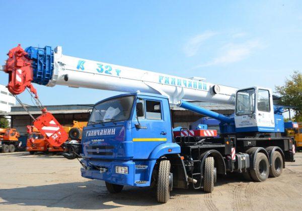 автокран 32 тонн галичанин