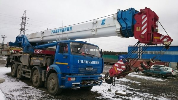 автокран 40 тонн 34 метров галичанин
