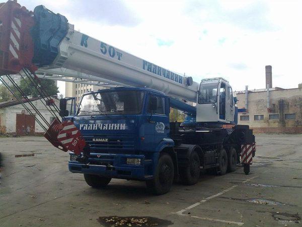 автокран 50 тонн 34 метров галичанин