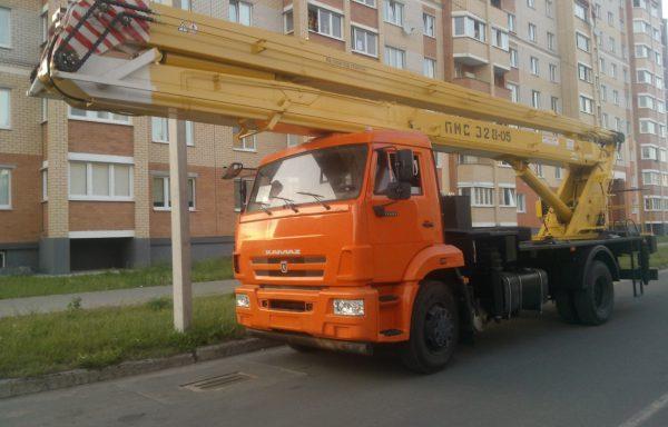 Автовышка 30 метров КАМАЗ (колено)