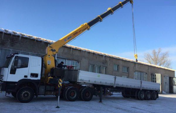 Манипулятор 20 тонн шаланда 13.5 метров