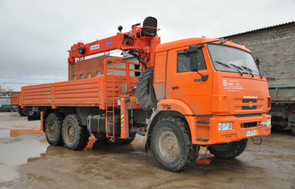 Манипулятор вездеход КАМАЗ 6х6